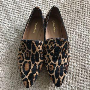 Calvin Klein Leopard Print Loafers